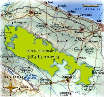 Map of Alta Murgia Park